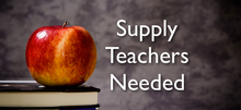 Supply Teacher Needed, image of apple